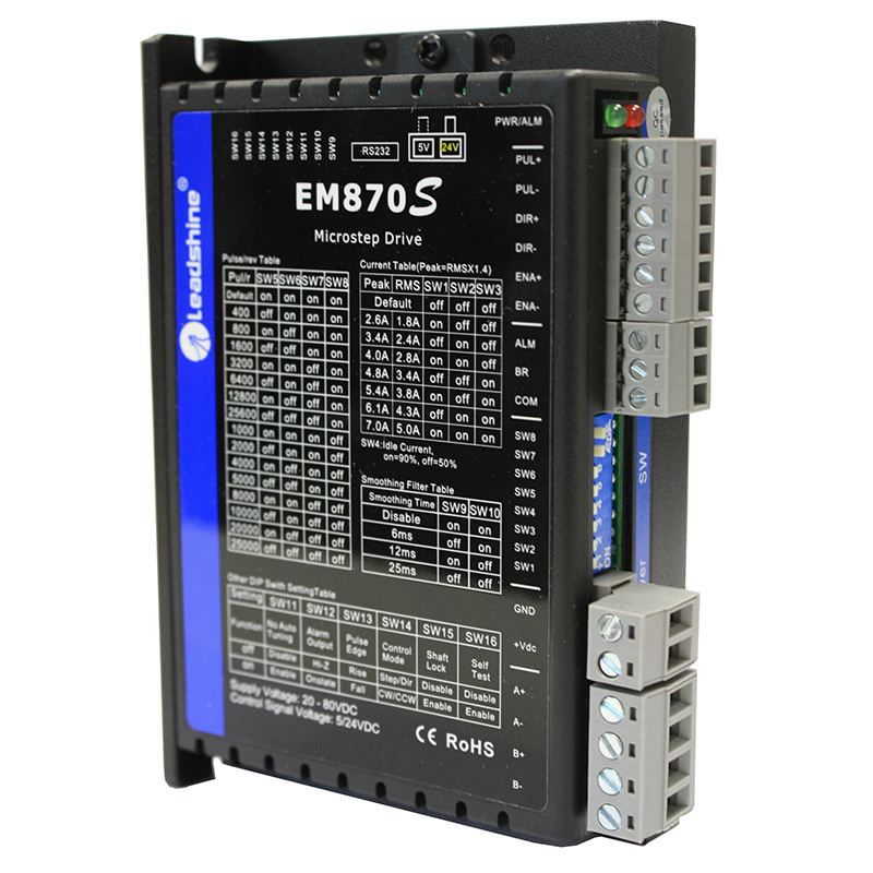 EM870S Digital Stepper Drive